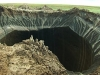 Crater caused by methane explosion?