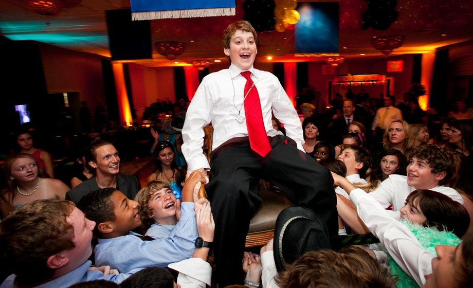 A Jewish boy is feted at his Bar Mitzvah
