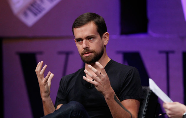 "SAN FRANCISCO, CA - OCTOBER 09:  Twitter Co-Founder and Chairman and Square CEO Jack Dorsey speaks onstage during ""From 7 Dwarves to 140 Characters"" at the Vanity Fair New Establishment Summit at Yerba Buena Center for the Arts on October 9, 2014 in San Francisco, California.  (Photo by Kimberly White/Getty Images for Vanity Fair)"