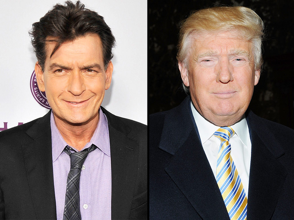 Charlie Sheen (L) and Donald Trump (R)