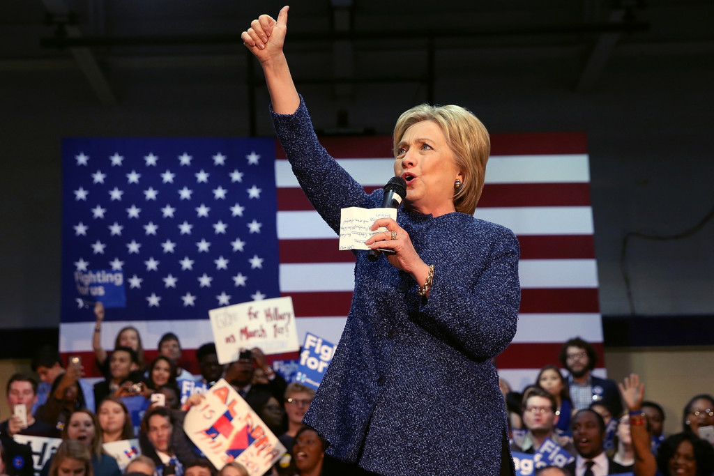Hillary Clinton  Photo: Getty Images
