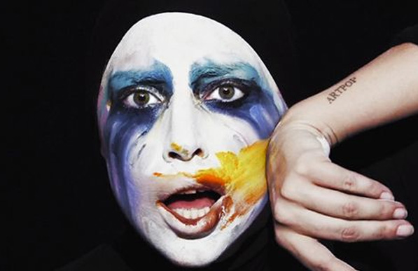 Lady Gaga in a still from her Applause video clip