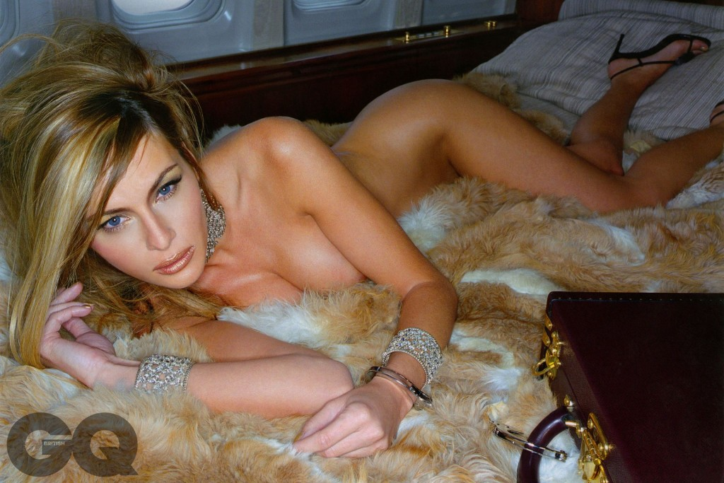 First Lady in waiting Melania Trump in a nude photo shoot for GQ magazine