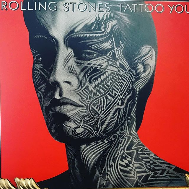 """now-playing-""""tattoo-you""""-by-the-rolling-stones-1981.-cobbled-together-from-studio-outtakes-recor"""